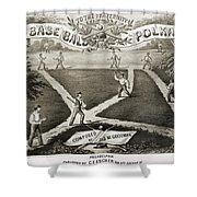 Baseball Polka, 1867 Shower Curtain