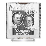 Baseball Program, 1923 Shower Curtain