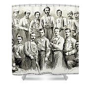 Baseball Teams, 1866 Shower Curtain