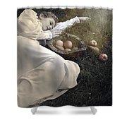 Basket With Fruits Shower Curtain by Joana Kruse