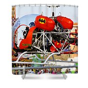 Batcopter Shower Curtain
