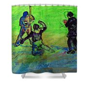 Batter Up Shower Curtain