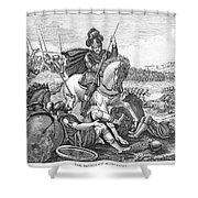 Battle Of Agincourt, 1415 Shower Curtain