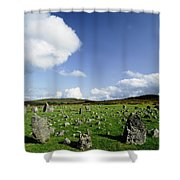 Beaghmore Stone Circles, Co. Tyrone Shower Curtain