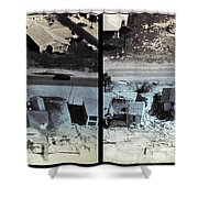 Before And After Hurricane Eloise 1975 Shower Curtain by Science Source