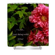 Being With You Shower Curtain