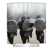 Belgian Infantry Soldiers Training Shower Curtain
