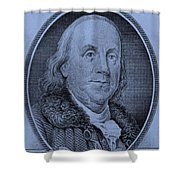 Ben Franklin In Cyan Shower Curtain