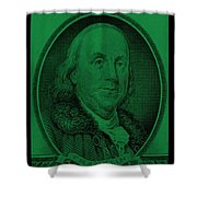 Ben Franklin In Dark Green Shower Curtain