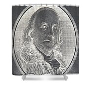 Ben Franklin In Negative Shower Curtain