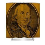 Ben Franklin In Orange Shower Curtain