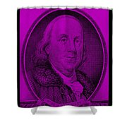 Ben Franklin In Purple Shower Curtain