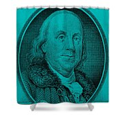 Ben Franklin In Turquois Shower Curtain