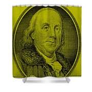 Ben Franklin In Yellow Shower Curtain