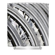 Bicycle Wheels Shower Curtain