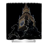 Big Ben And Boudica Statue Shower Curtain