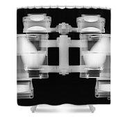 Binoculars X-ray Shower Curtain