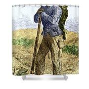 Black Civil War Soldier Shower Curtain