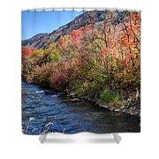 Blacksmith Fork River In The Fall - Utah Shower Curtain