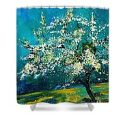 Blooming Appletree Shower Curtain