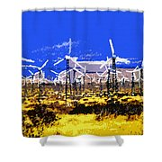 Blowing In The Wind Shower Curtain by David Lee Thompson