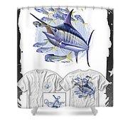 Blue Marlin Shower Curtain