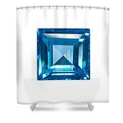 Blue Sapphire Isolated Shower Curtain