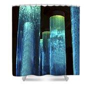 Blue Tubes Shower Curtain