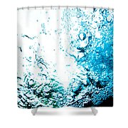 Blue White Water Bubbles In A Pool  Shower Curtain