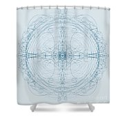 Blueprint Shower Curtain