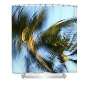 Blurred Palm Trees Shower Curtain