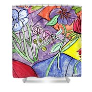 Bold Flowers Shower Curtain