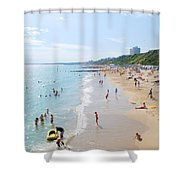 Bournemouth Beaches Shower Curtain