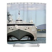 Bow On View Of The Us Navy Experimental Shower Curtain