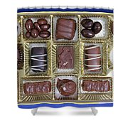 Box Of Chocolates Shower Curtain