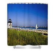 Brant Point Lighthouse Shower Curtain