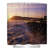 Bray Promenade, Co Wicklow, Ireland Shower Curtain