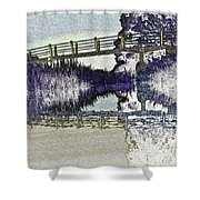 Bridge Across The River Shower Curtain