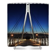Bridge To Twilight Shower Curtain