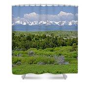 Bridger Mountain View Shower Curtain