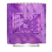 Brushed Purple Violet 11 Shower Curtain