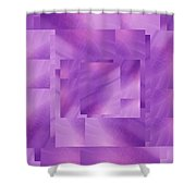 Brushed Purple Violet 3 Shower Curtain
