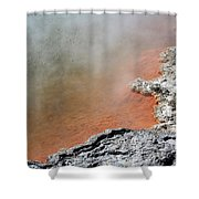 Bubbles Rising In Champagne Pool Hot Shower Curtain