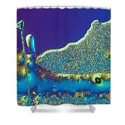 Buckyball Crystal Shower Curtain