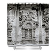 Buddhist Temple Wat Luang In Chiang Khong In Thailand Shower Curtain