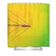 Bullet Through Air Shower Curtain by Omikron
