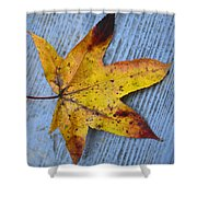 Burnished Gold On Wood Shower Curtain