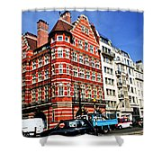 Busy Street Corner In London Shower Curtain by Elena Elisseeva