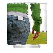 Butt Shower Curtain