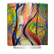 Butterfly Caught II Shower Curtain